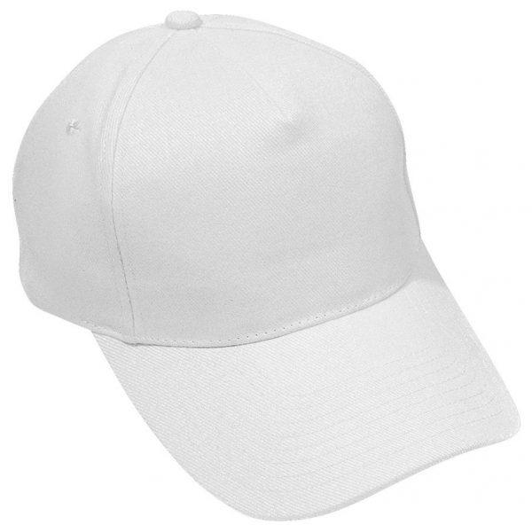 Бейсболка Hit Белая с нанесением логотипа