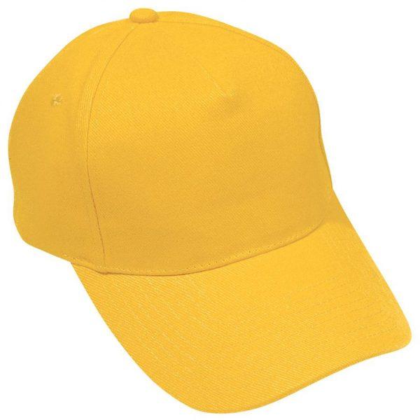 Бейсболка Hit Желтая с нанесением логотипа
