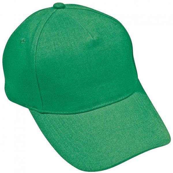 Бейсболка Hit Зеленая с нанесением логотипа
