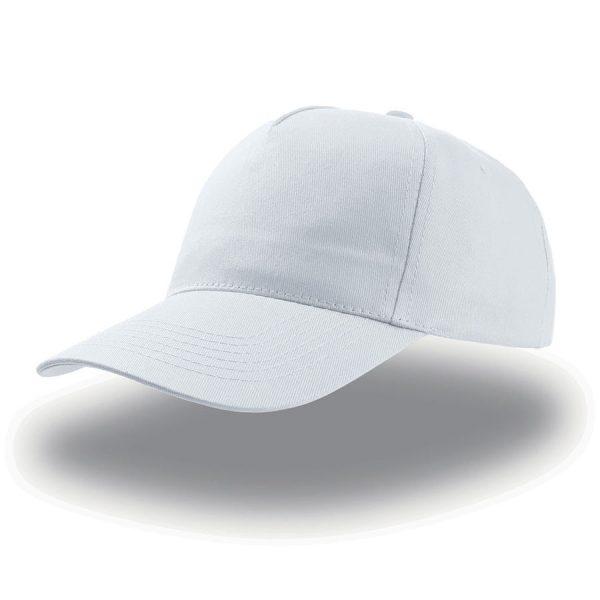 Бейсболка START FIVE белая с нанесением логотипа