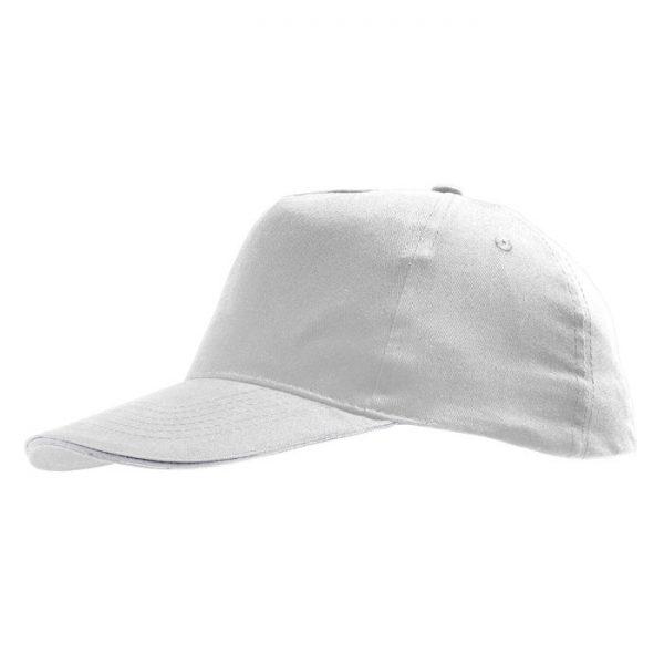 Бейсболка Sunny белая с нанесением логотипа