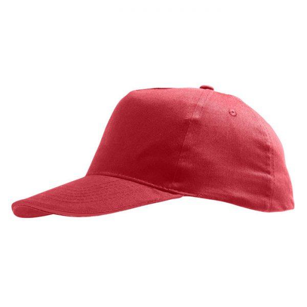 Бейсболка Sunny красная с нанесением логотипа