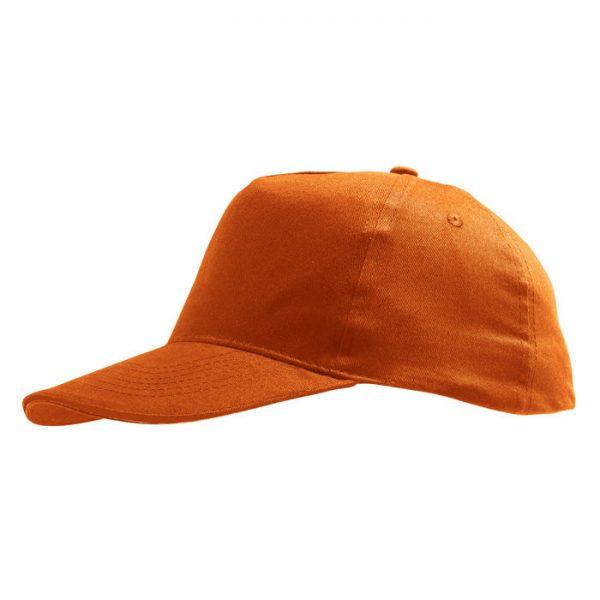 Бейсболка Sunny оранжевая с нанесением логотипа