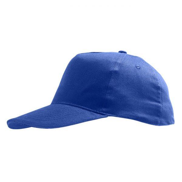 Бейсболка Sunny синяя с нанесением логотипа