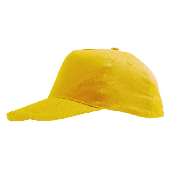 Бейсболка Sunny желтая с нанесением логотипа