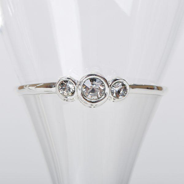 Бокалы для шампанского Crystal с нанесением логотипа