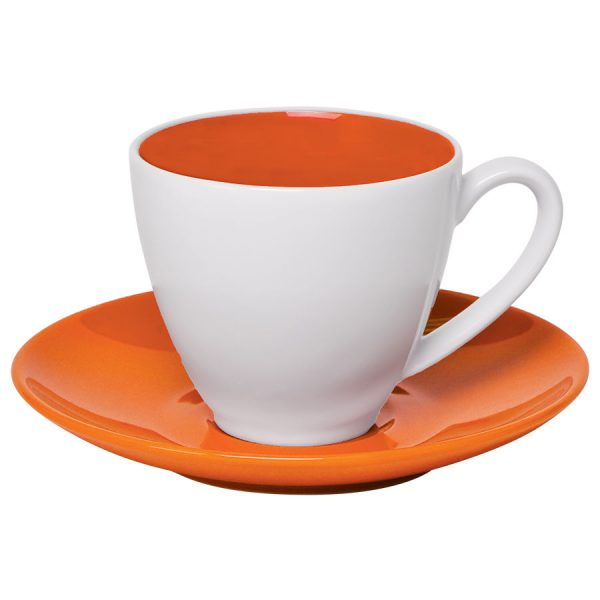 Чайная пара Galena оранжевый-белый