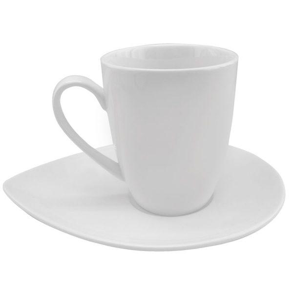 Чайная пара Лепесток из фарфора с нанесением логотипа
