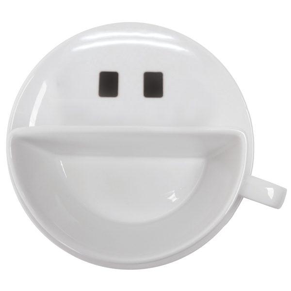 Чайная пара Смайл из фарфора с нанесением логотипа