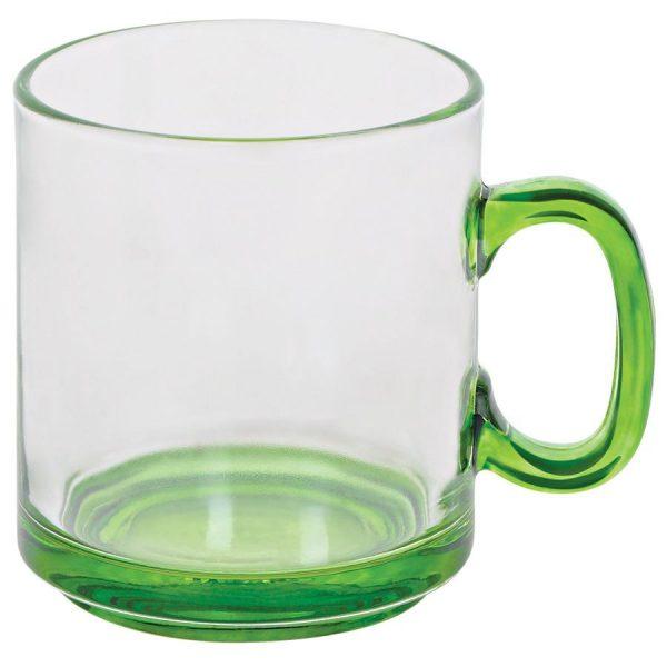 Кружка Joyful прозрачно-зеленая с нанесением логотипа