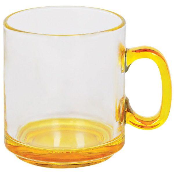 Кружка Joyful прозрачно-желтая с нанесением логотипа