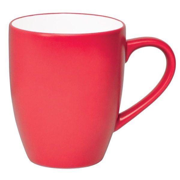 Кружка Milar красная с нанесением логотипа