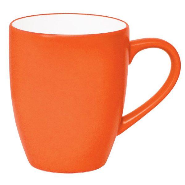 Кружка Milar оранжевая с нанесением логотипа