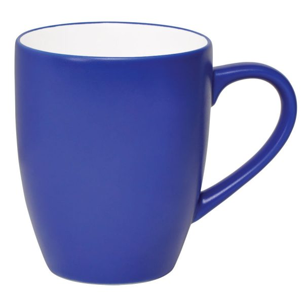 Кружка Milar синяя с нанесением логотипа