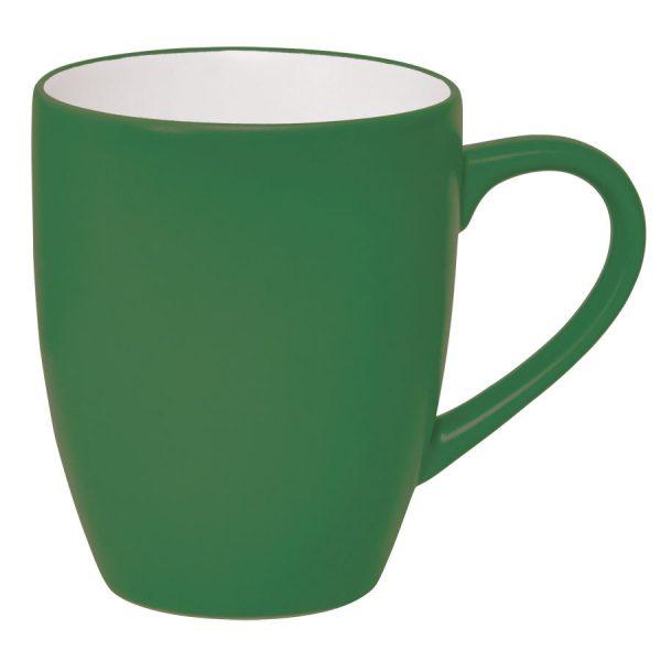 Кружка Milar зеленая с нанесением логотипа