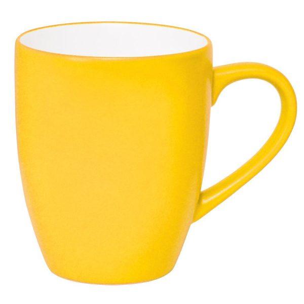 Кружка Milar желтая с нанесением логотипа
