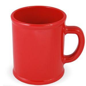 Кружка Радуга с нанесением логотипа красная, пластик