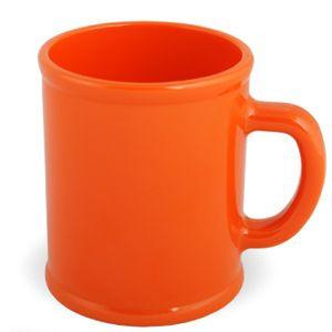 Кружка Радуга с нанесением логотипа оранжевая, пластик
