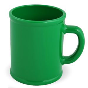 Кружка Радуга с нанесением логотипа зеленая, пластик