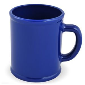Кружка Радуга с нанесением логотипа синяя, пластик