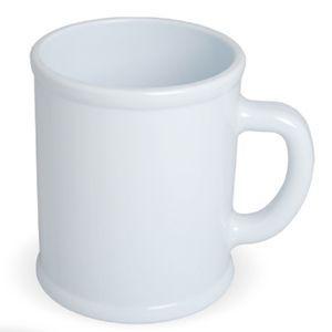 Кружка Радуга с нанесением логотипа белая, пластик