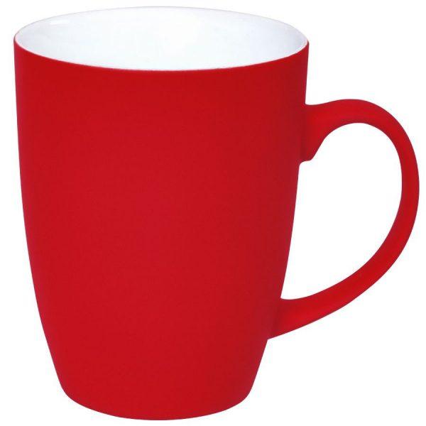 Кружка Sweet красная с прорезиненным покрытием с нанесением логотипа