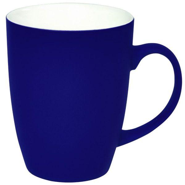 Кружка Sweet синяя с прорезиненным покрытием с нанесением логотипа