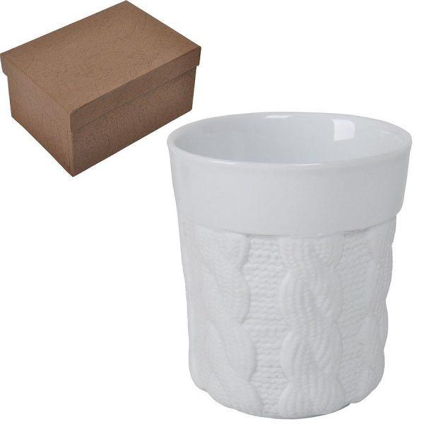 Кружка Warm из фарфора с двойными стенками в подарочной с нанесением логотипа