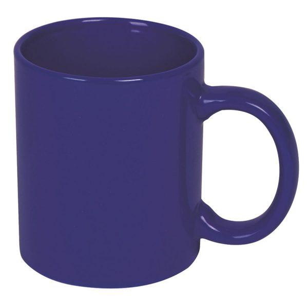 Кружка керамическая темно-синяя с нанесением логотипа