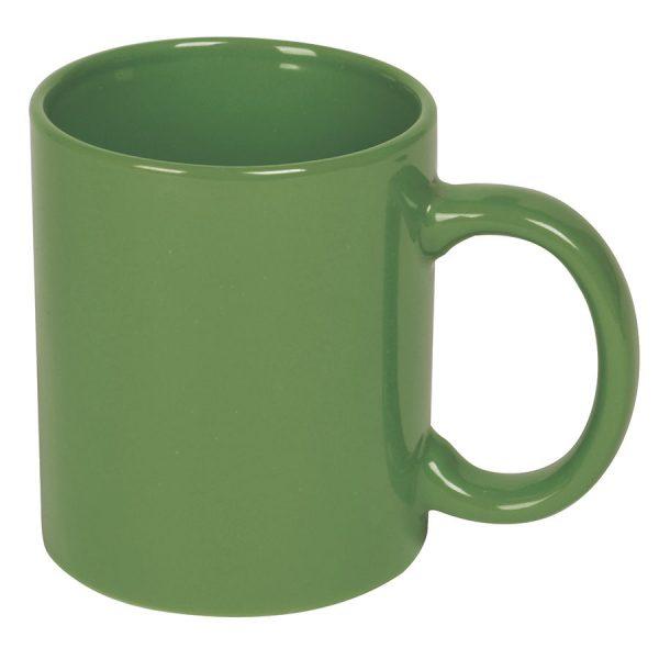 Кружка керамическая зеленая с нанесением логотипа
