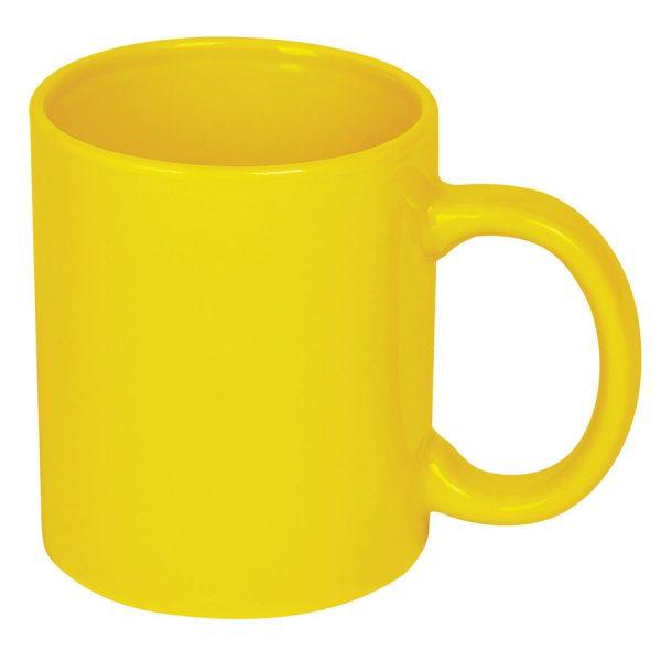 Кружка керамическая желтая с нанесением логотипа