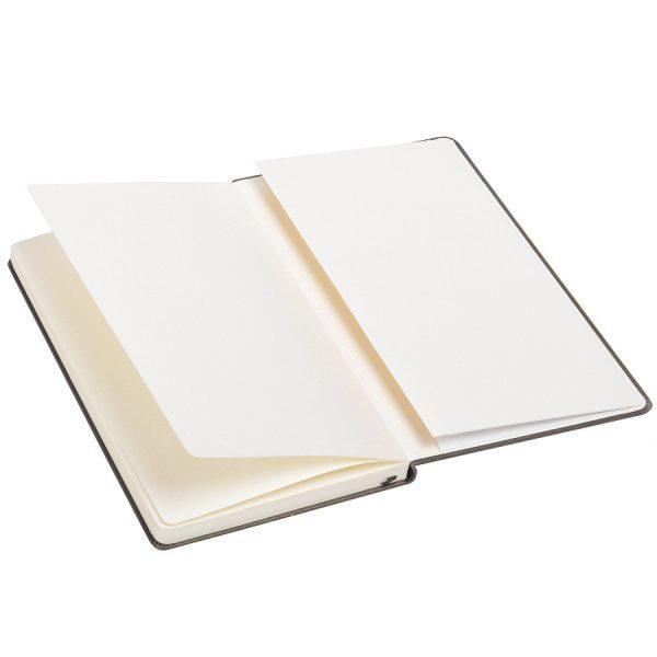 Бизнес-блокнот А5 Classic, твердая обложка, линейка серый развертка 2