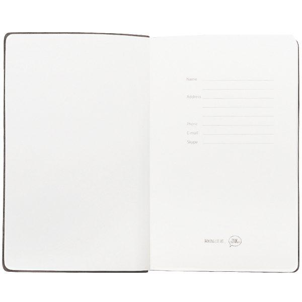 Бизнес-блокнот А5 Classic, твердая обложка, линейка серый развертка 3