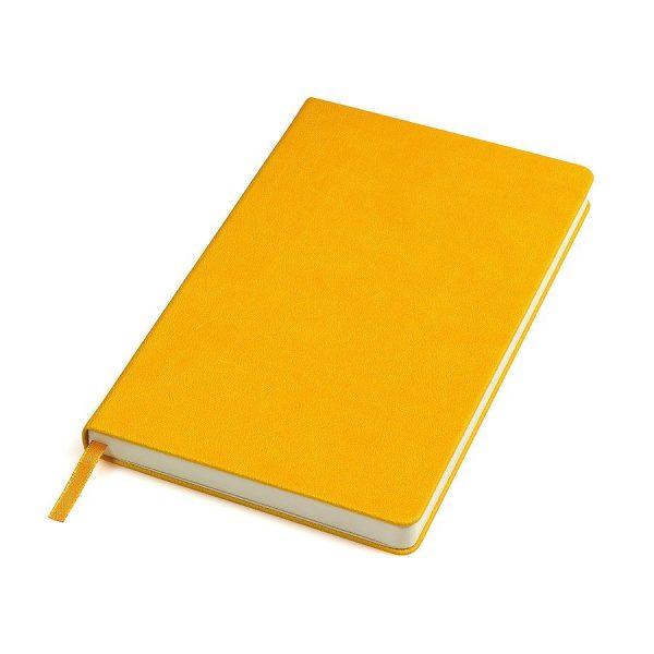 Бизнес-блокнот А5 Classic, твердая обложка, линейка желтый с нанесением логотипа
