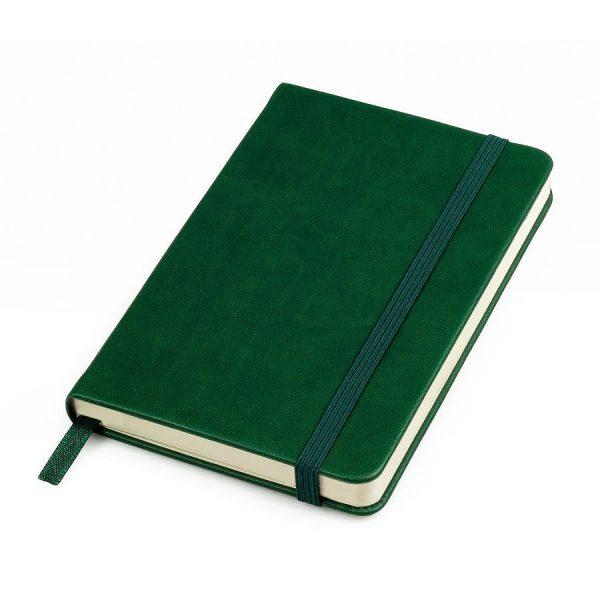 Блокнот А6 Casual, твердая обложка, клетка зеленый с нанесением логотипа