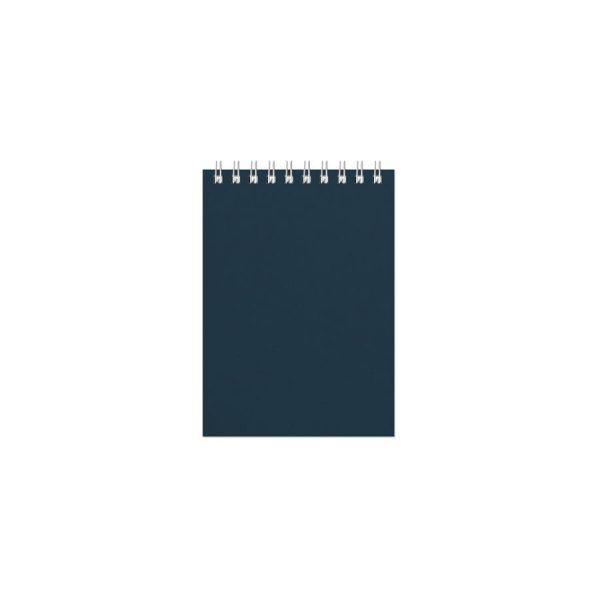 Блокнот Office, верхний гребень, белый блок, клетка, 60 листов синий с нанесением логотипа