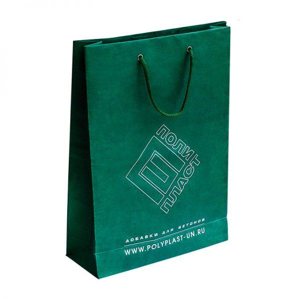 Бумажные пакеты с логотипом компании. Вариант №02