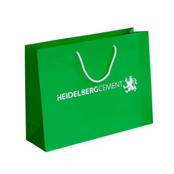 Бумажные пакеты с логотипом компании. Вариант №03