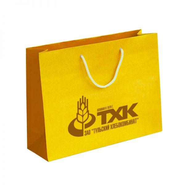Бумажные пакеты с логотипом компании. Вариант №07