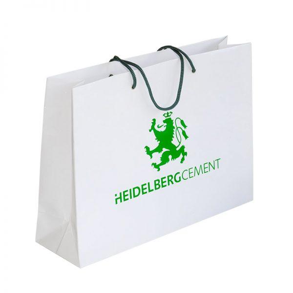 Бумажные пакеты с логотипом компании. Вариант №08