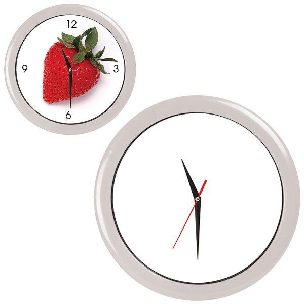 Часы настенные ПРОМО разборные белые с нанесением логотипа