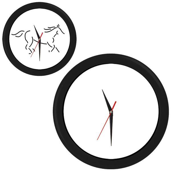 Часы настенные ПРОМО разборные черные с нанесением логотипа