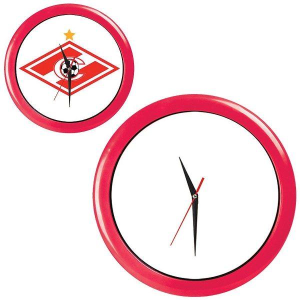 Часы настенные ПРОМО разборные красные с нанесением логотипа