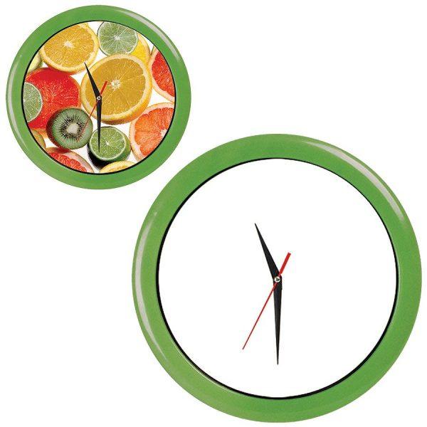 Часы настенные ПРОМО разборные салатовые с нанесением логотипа