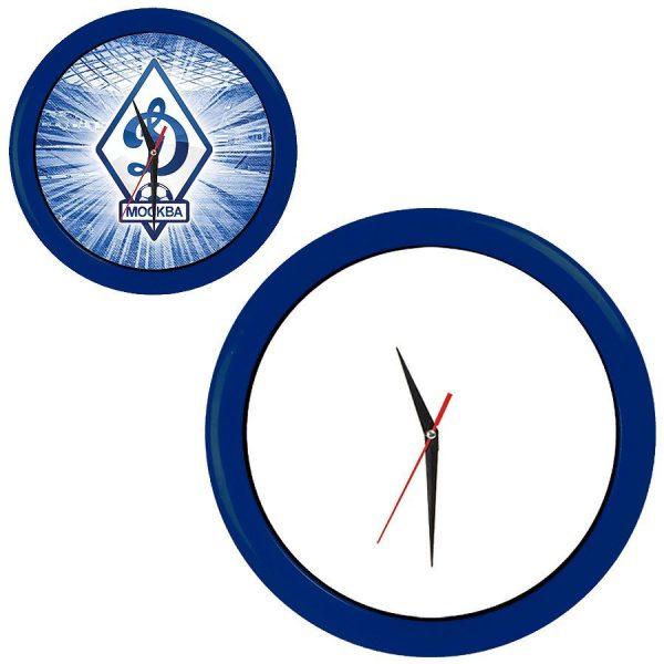 Часы настенные ПРОМО разборные синие с нанесением логотипа
