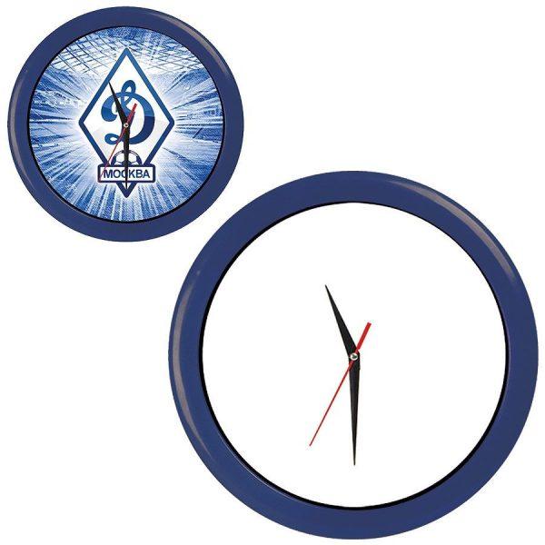Часы настенные ПРОМО разборные темно-синие с нанесением логотипа