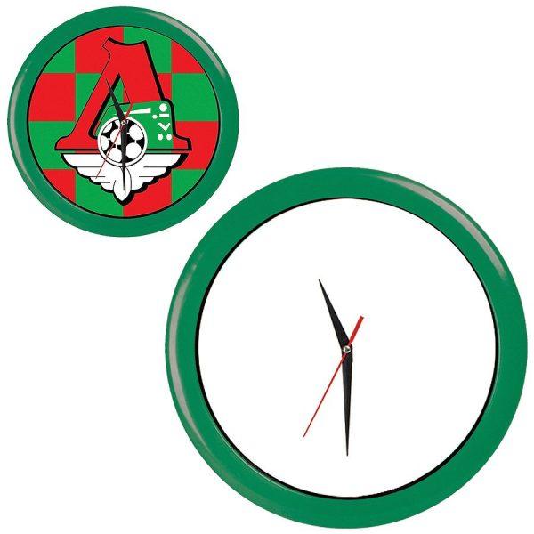 Часы настенные ПРОМО разборные зеленые с нанесением логотипа