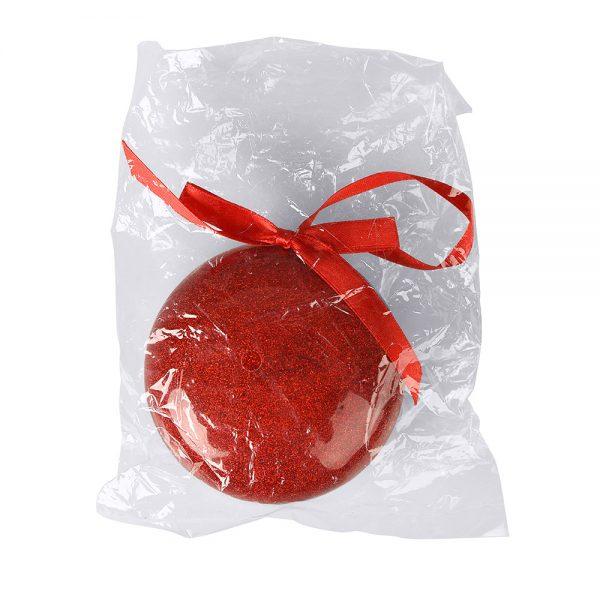 Елочное украшение ШАР плоский красный с нанесением логотипа развертка 3