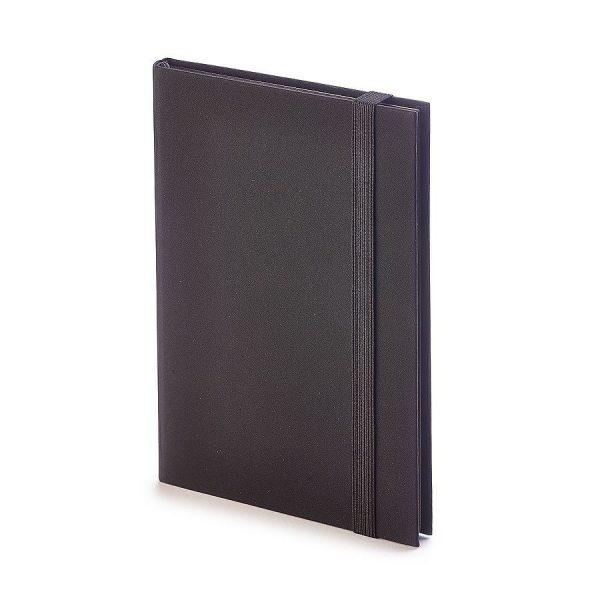 Еженедельник недатированный Tango, B6, бежевый блок, черный обрез, ляссе черный с нанесением логотипа