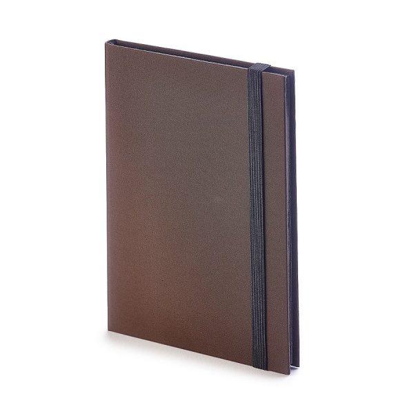 Еженедельник недатированный Tango, B6, бежевый блок, черный обрез, ляссе коричневый с нанесением логотипа